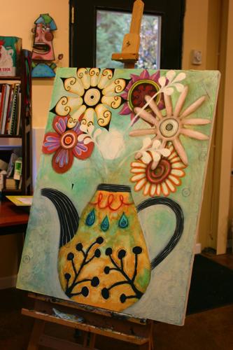 Flower Teapot Painting