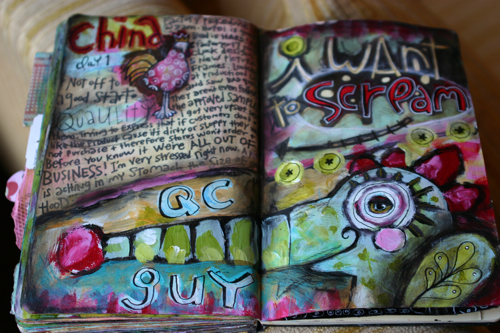 Scream journal page
