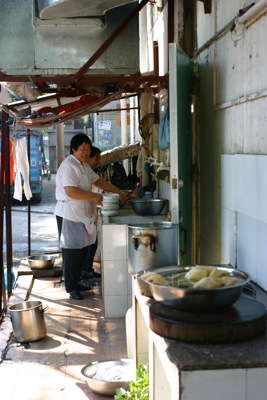 Chinese outdoor kitchen