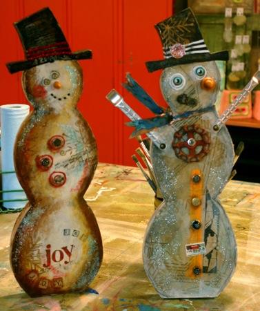 Handmade snowman art