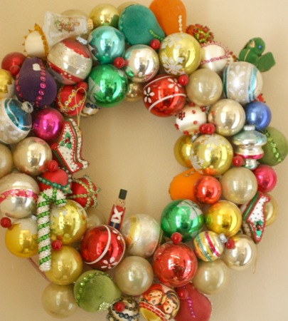 Vintage ball wreath