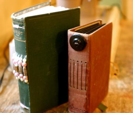 Vintage book journals