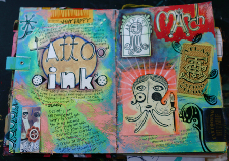 Tattoo journal page