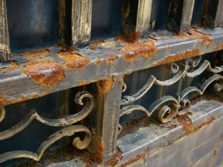 Old steel gate