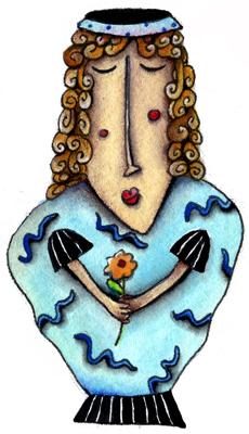 Blue Girl Vase