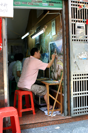 Oil painting village