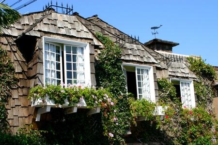 European looking house