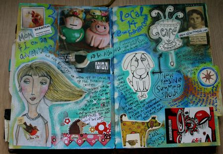 Birthday journal page