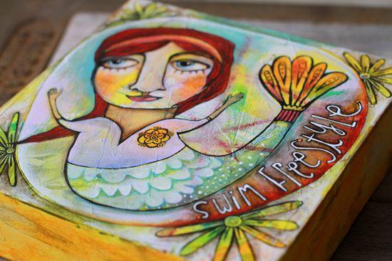Mermaid girl art