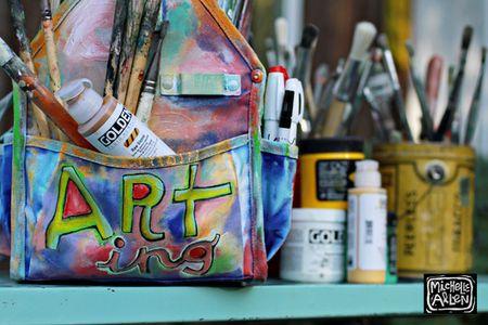 Art travel bag