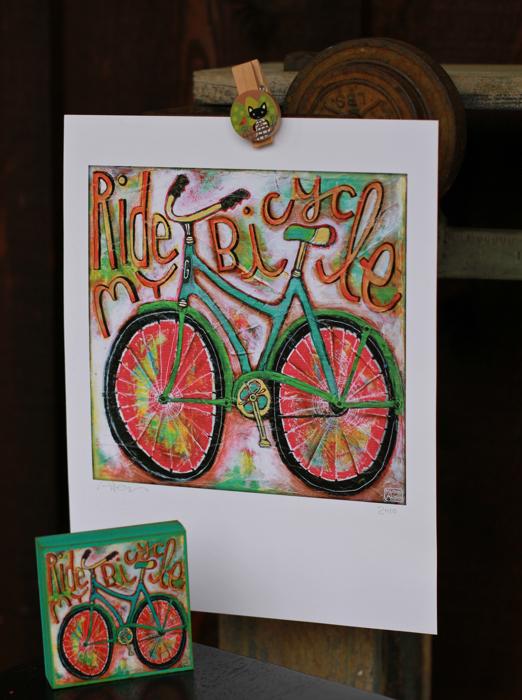 Bicycle art gift