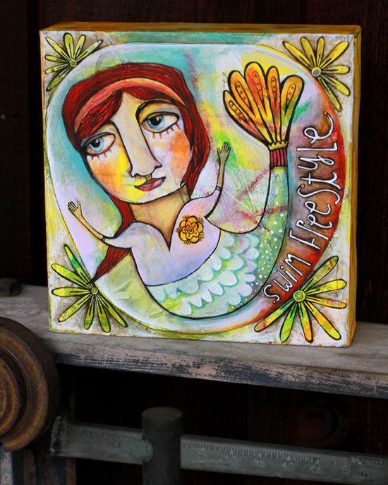 Swim girl art