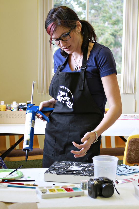 Painting with caulking