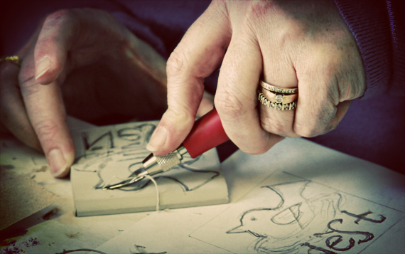 Hand cutting stamps