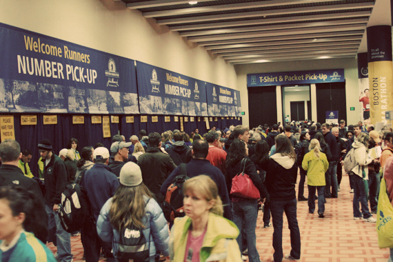Boston Marathon packet pick up