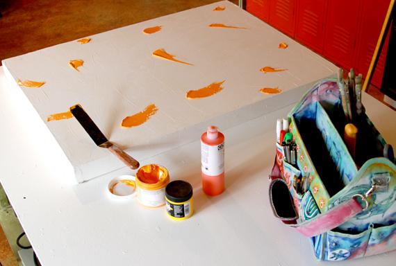 Acrylic painting artist