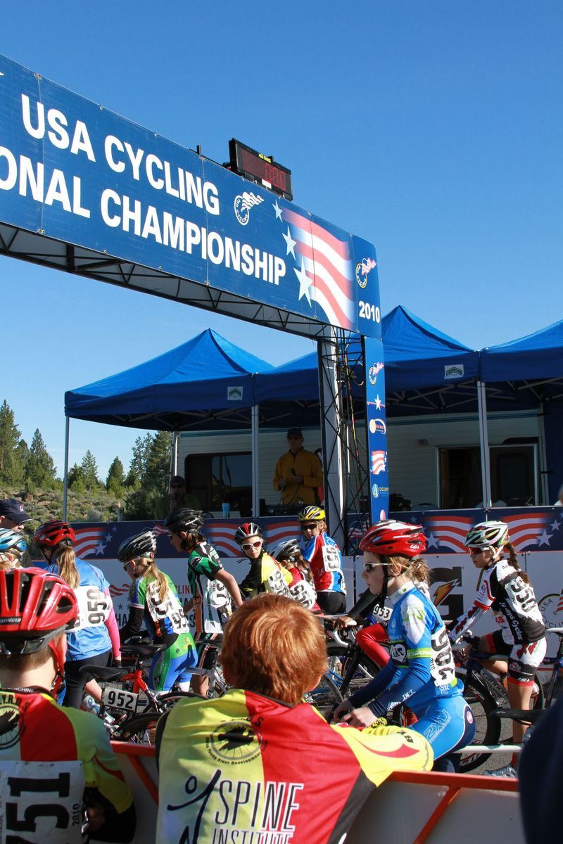 10-12 yr. old girls jr. nationals cycling