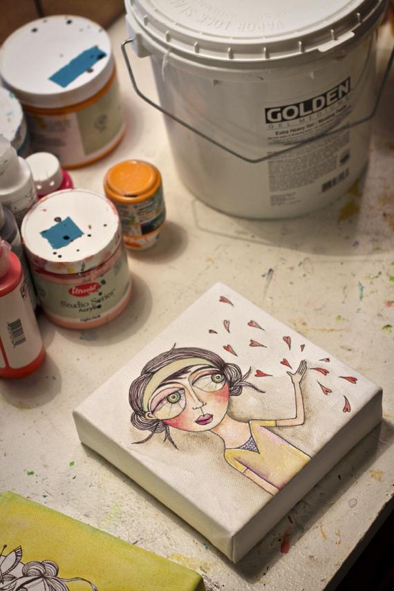 Sharing love painting