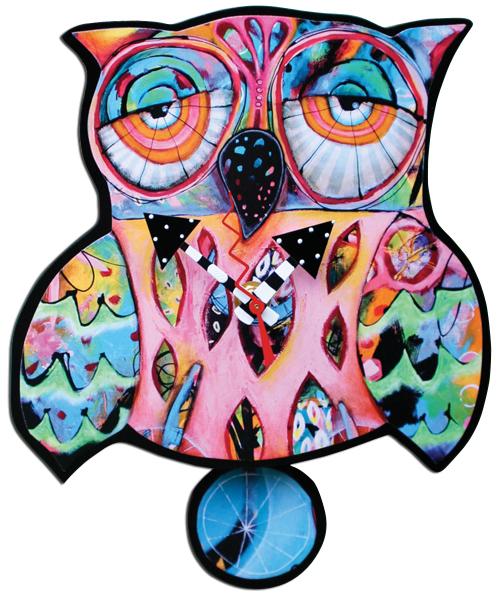 whimsical owl clock