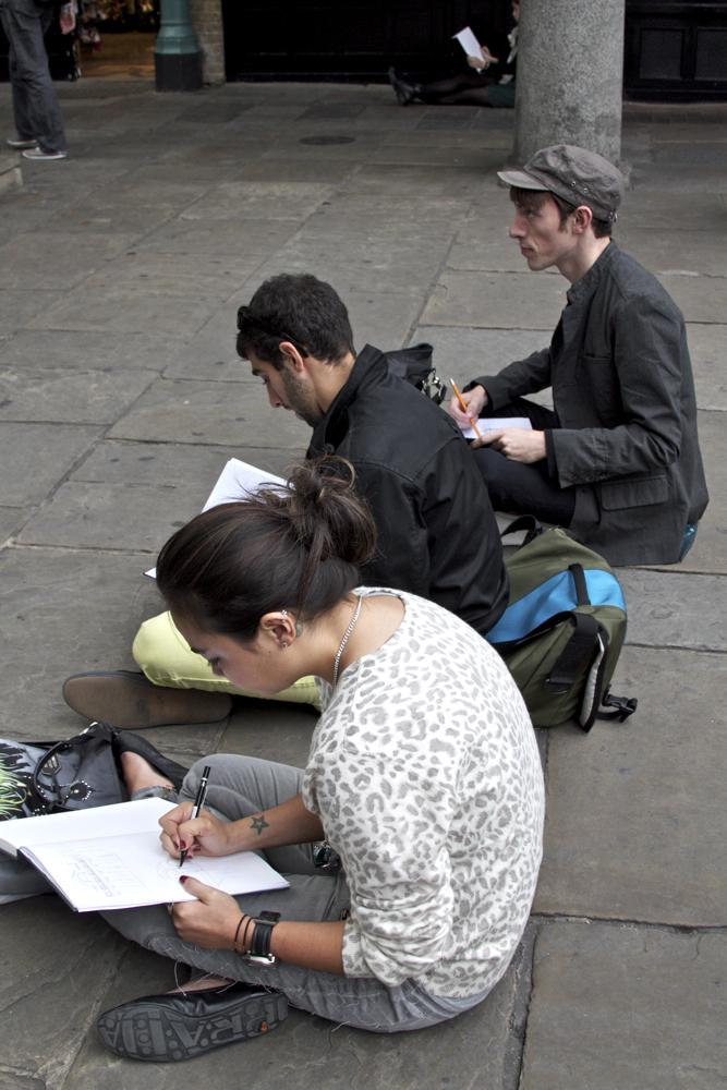 Sketching artists