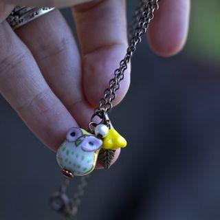 Cutest owl necklace