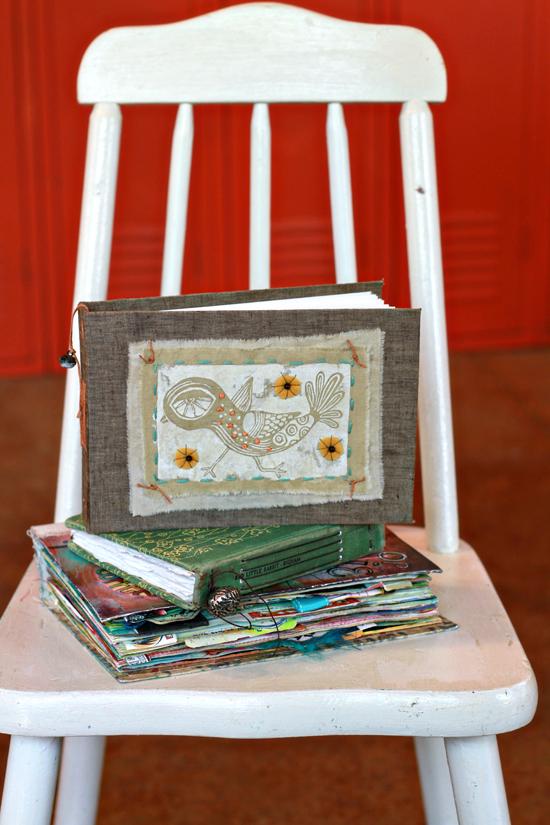 Silk screened art journal