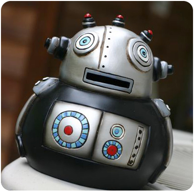 Robot money bank
