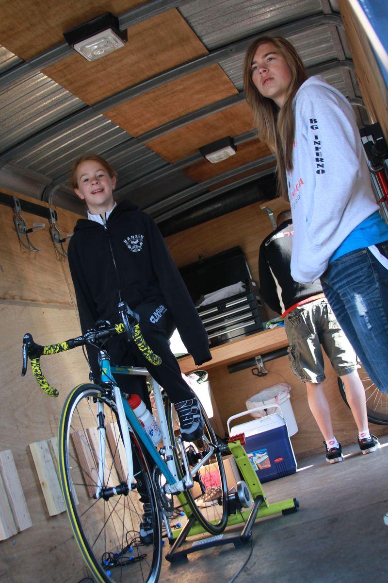 Junior girl cyclist