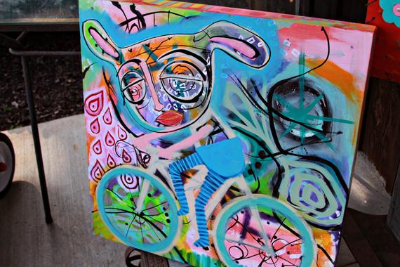 Bunny cyclist art