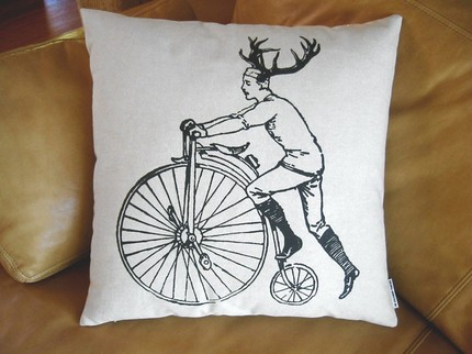 deer bicycle pillow