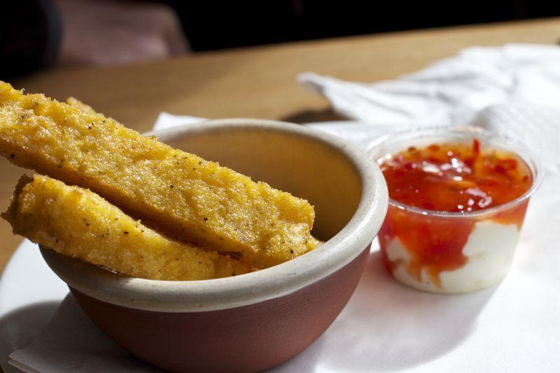 Polenta chips yummy