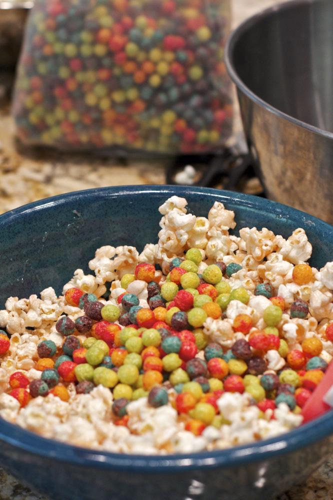 Colorful popcorn balls