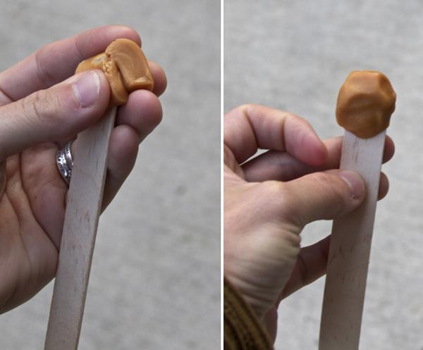 Popcorn ball stick tricks