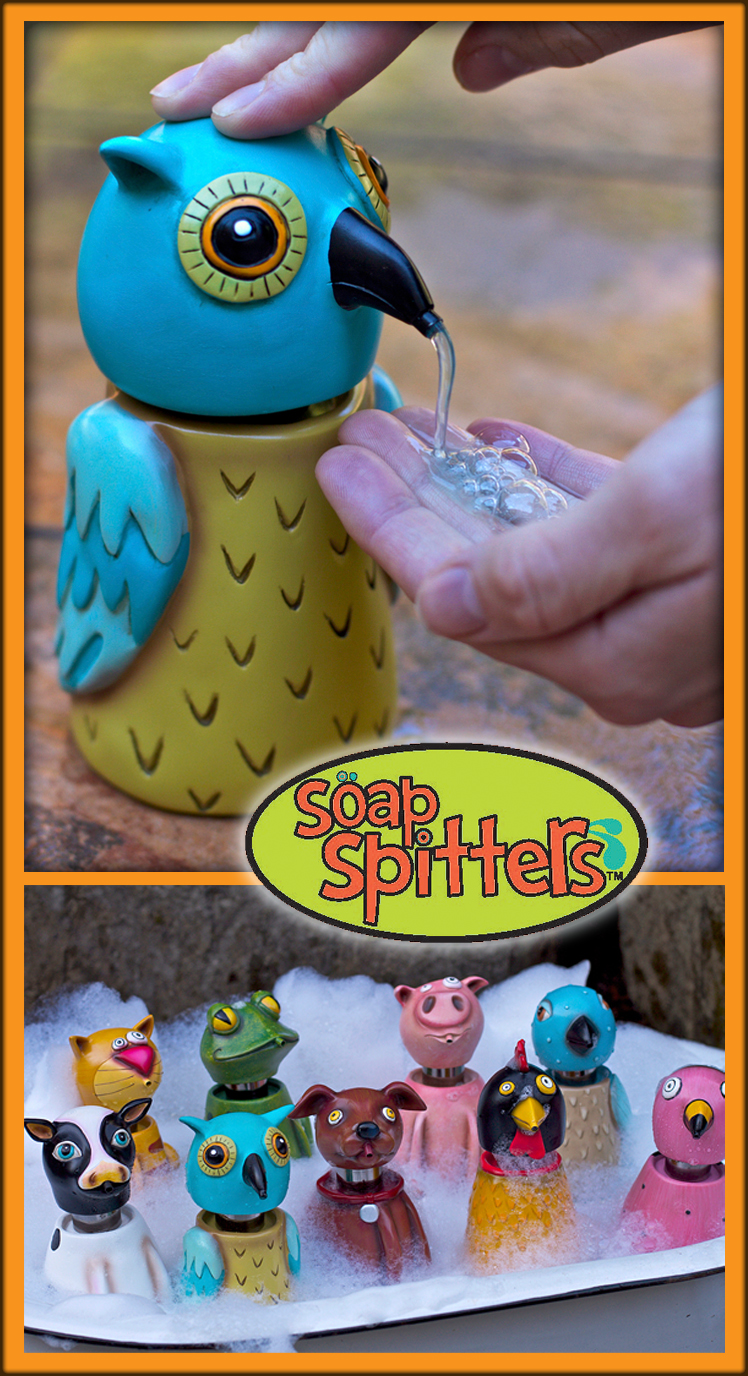Soap spitters dispensers