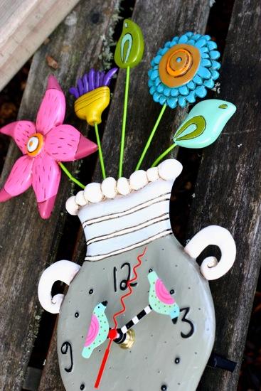 Allen whimsical flower clock