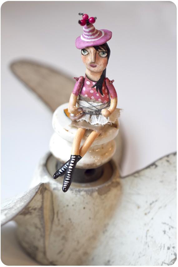 Handmade sculpted doll