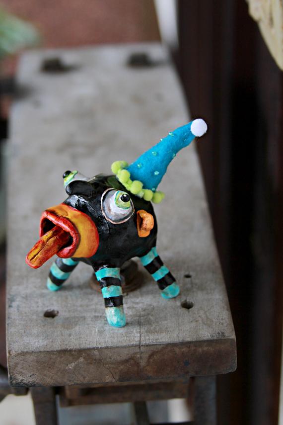 Whimsical monster art