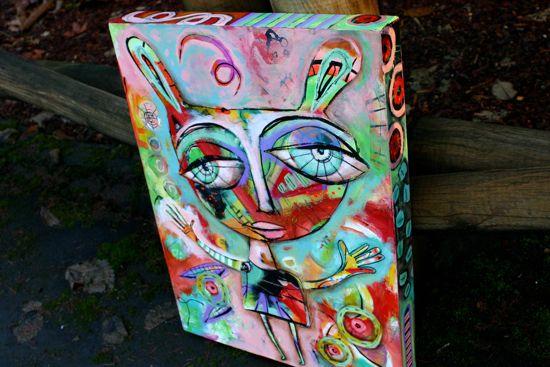 Bohemian funky painting