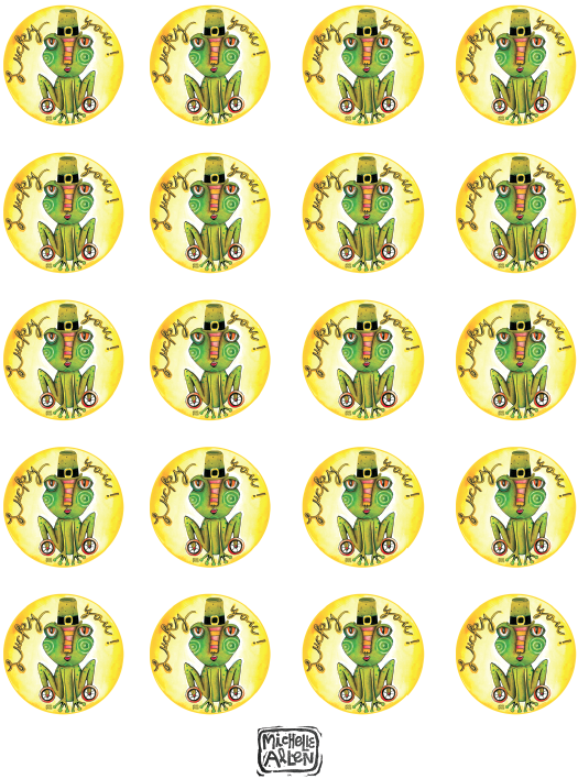 michelle my belle lucky you st patricks day cupcake toppers