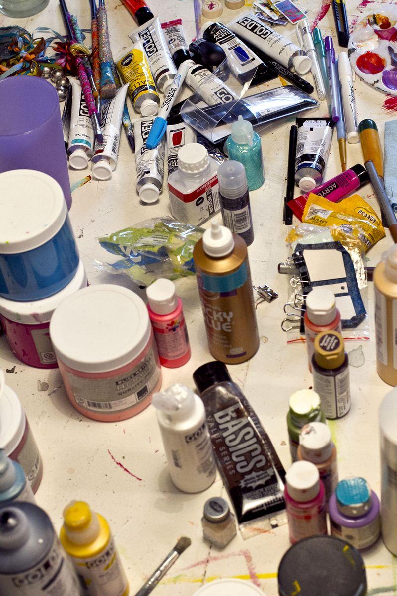 Art supplies galore
