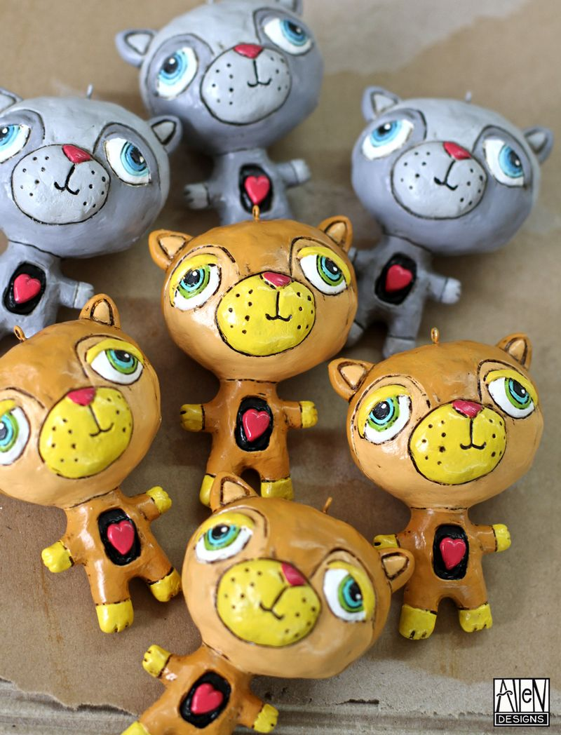 Allen designs cat ornaments