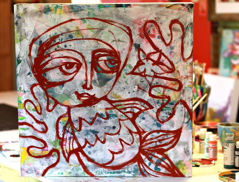 Painting original whimsical