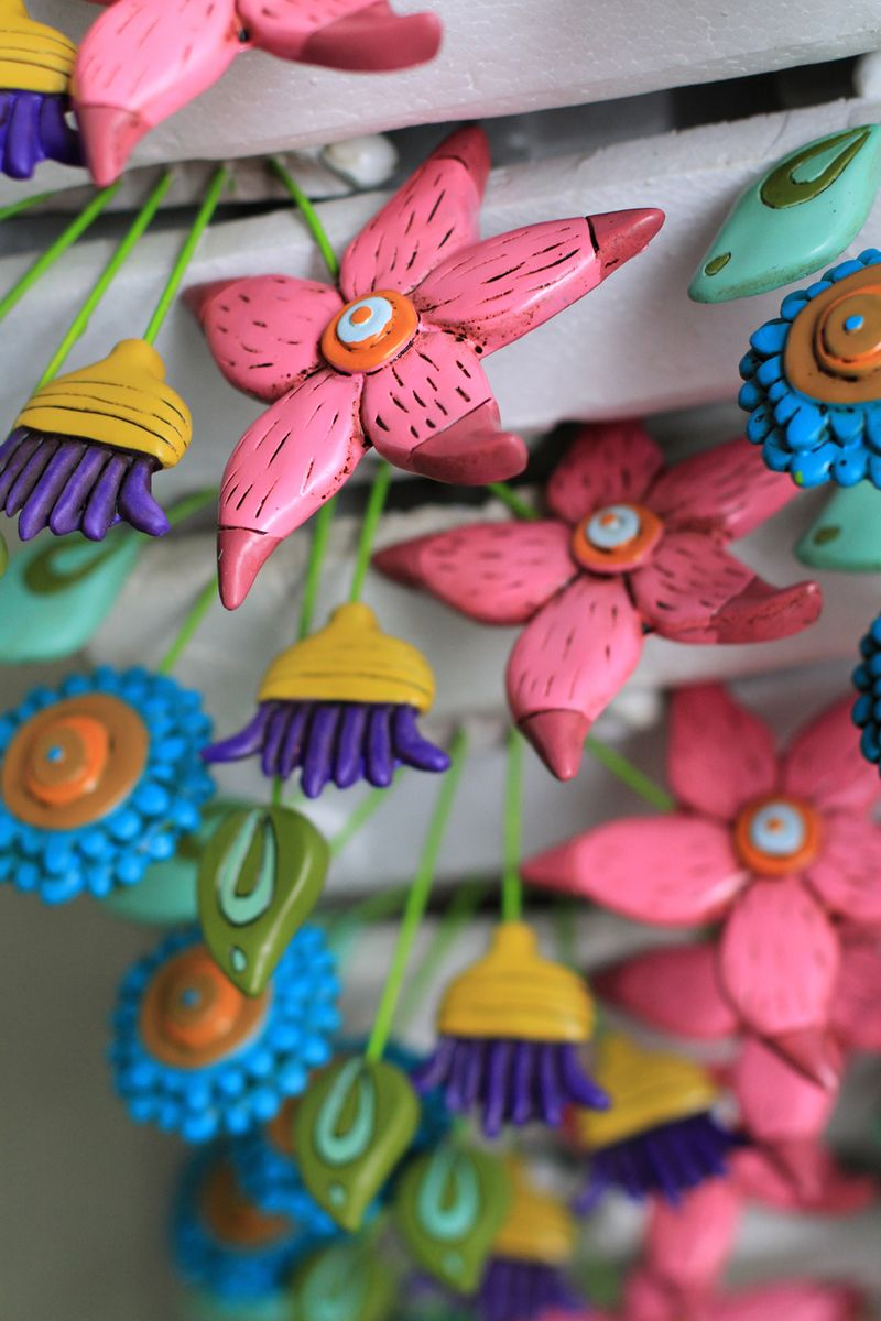 Colorful flower art allen designs