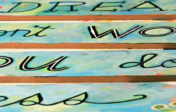 Hand lettering art