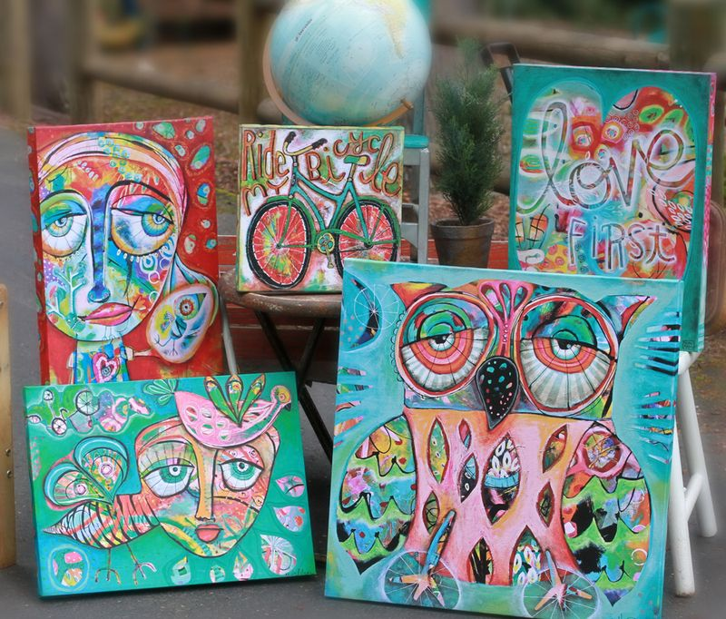 Allen designs art canvases