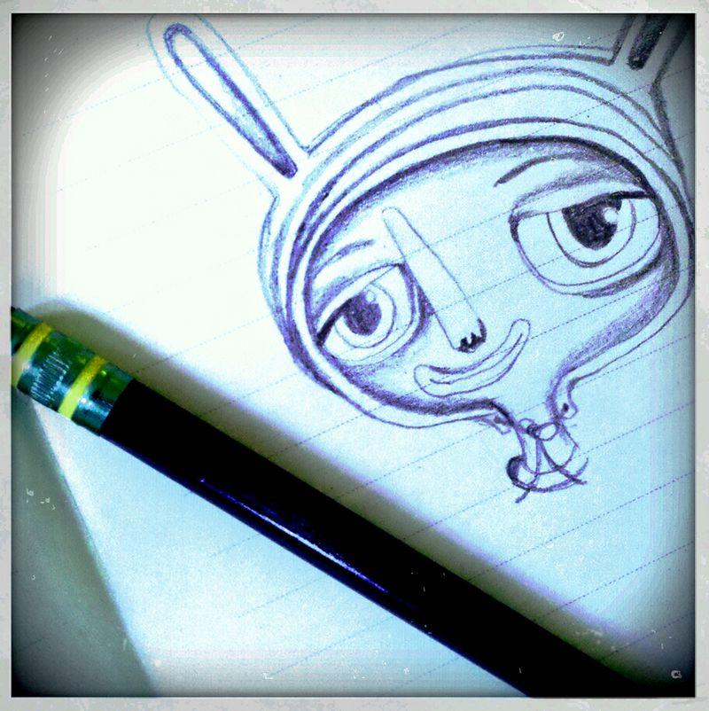 Artist doodles