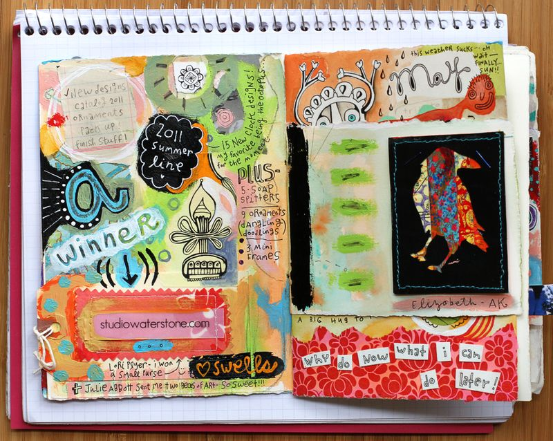 Funky colorful art journal