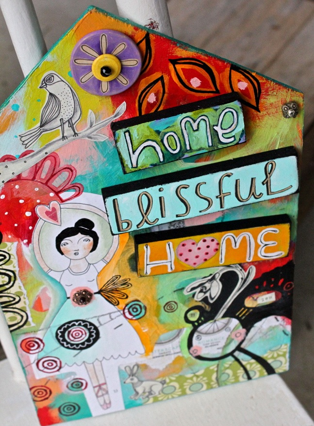 Home blissful home journal art
