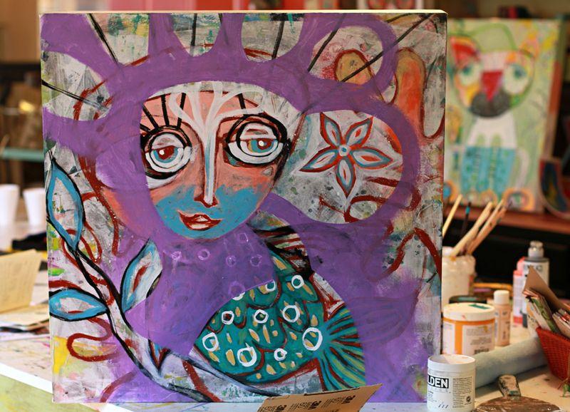Painting progress