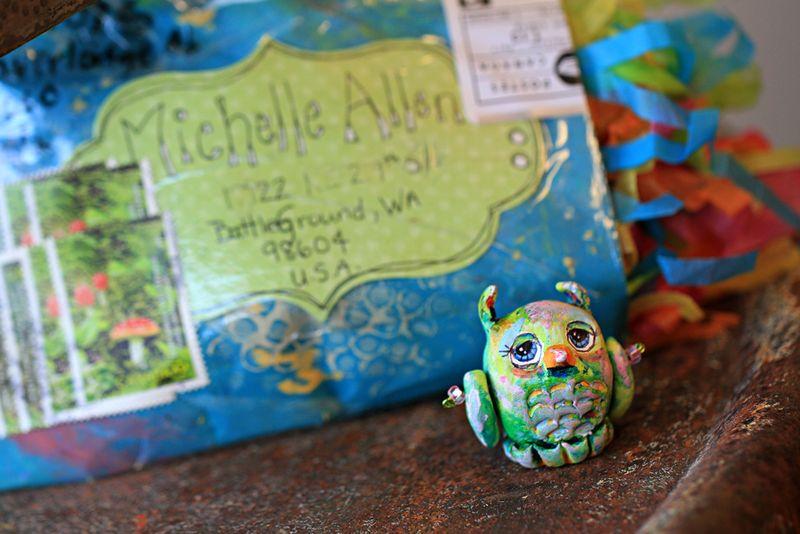 Sculpted handmade owl